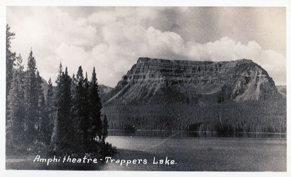 Image of vintage postcard of Trappers Lake
