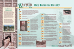 interpretive panel with Kirwin timeline, thumbnail