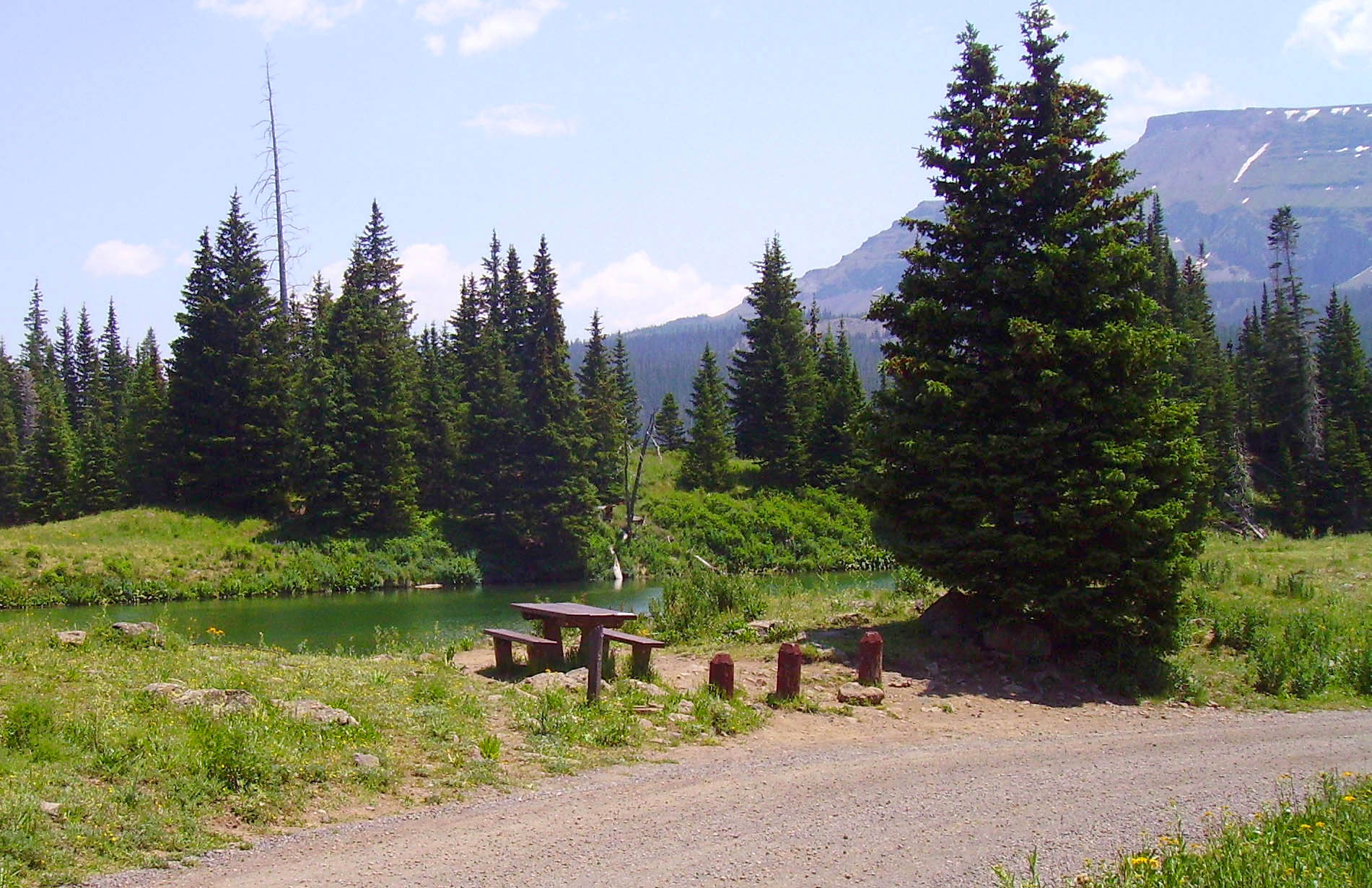 Photo of coldsprings campground with pond