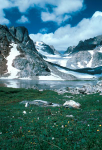 Photo of the Din Woody Glacier