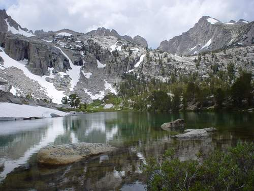 Lake Along Kearsarge Pass Trail