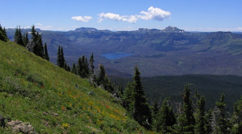 View of the Flat Tops Wilderness