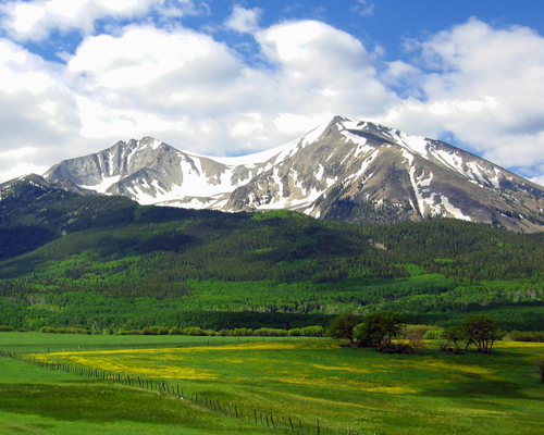Sopris in the springtime