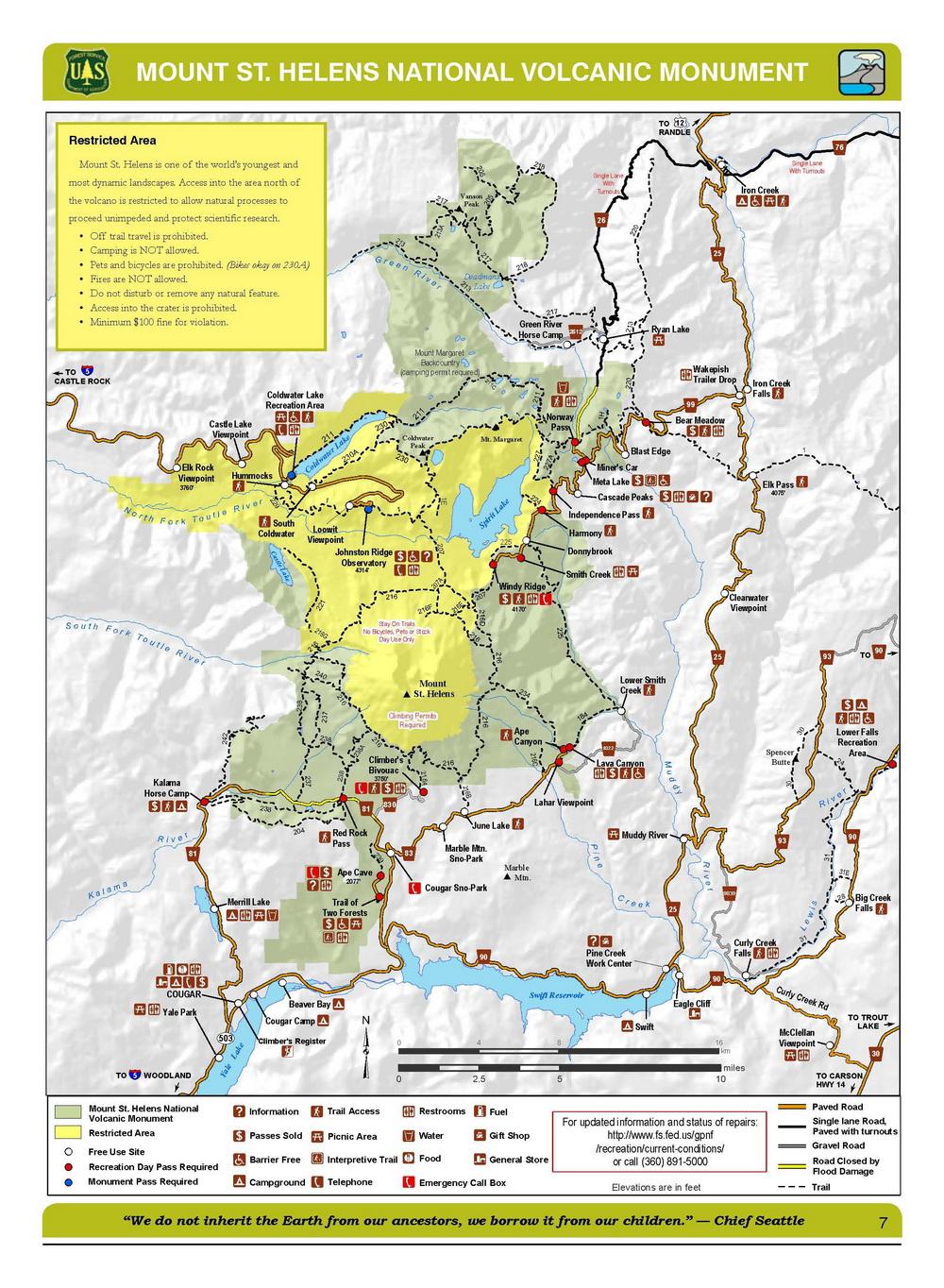 Mt Adams Washington Map.Gifford Pinchot National Forest Sno Park Marble Mountain