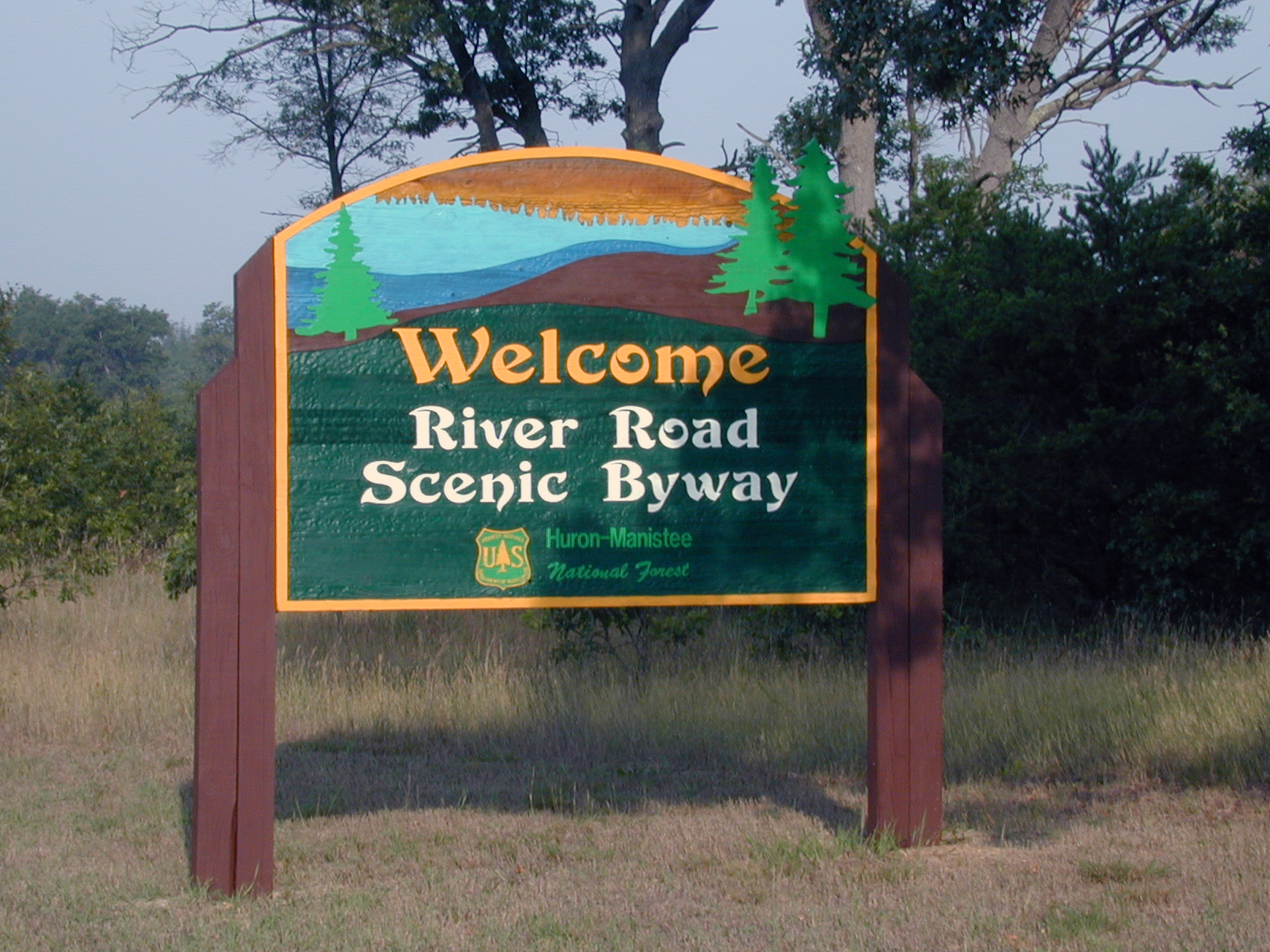 Sign for the River Road National Scenic Byway.