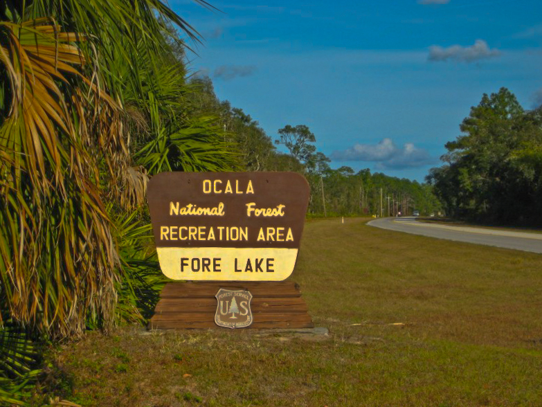 Sign for Fore Lake