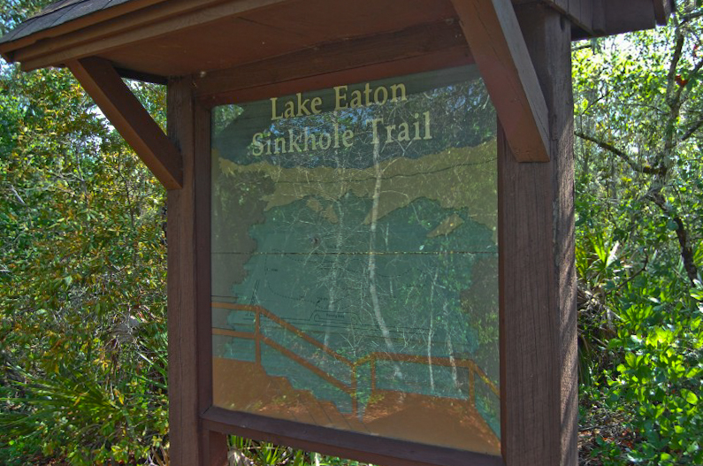 Lake Eaton Sinkhole trail map