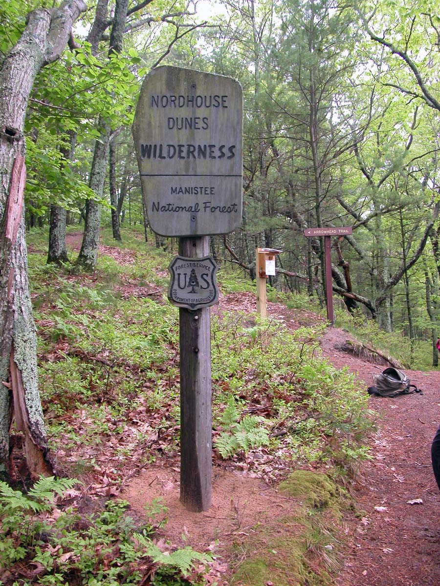 Nordhouse Dunes Wilderness sign