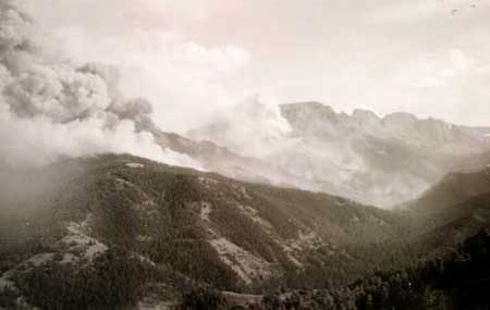 Photo of the Blackwater Fire of 1937