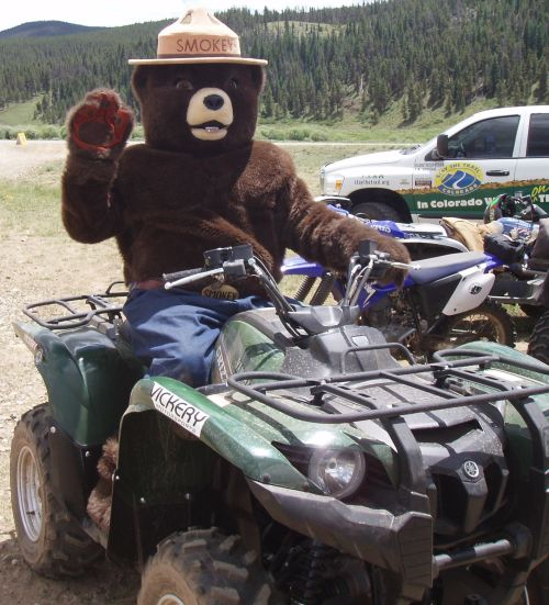 Smokey Bear on ATV