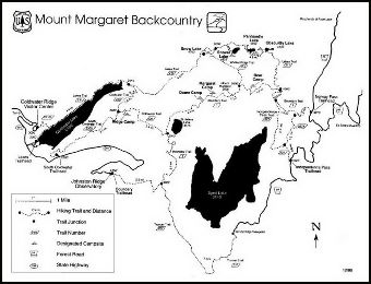 Printable Mount Margaret Backcountry General Trails Map.