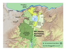 Mt Hood NF Ranger District vicinity map