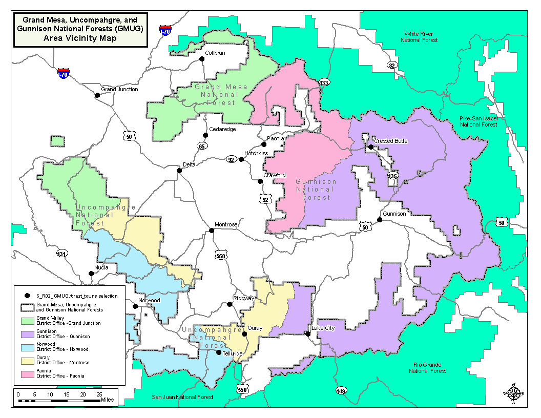 US Forest Service R Rocky Mountain Region Colorado Dialup Grand - Map of us forest regions