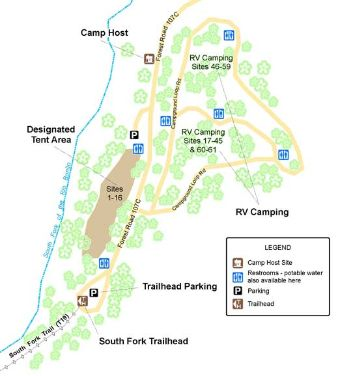 Southfork Campground Map