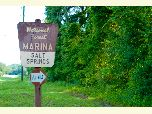 Salt Springs Marina road sign