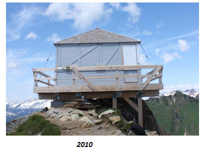 Green Lookout in 2010 after repair work