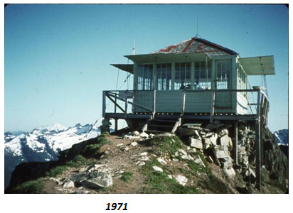 Green Mountain Lookout in 1971 in need of repair
