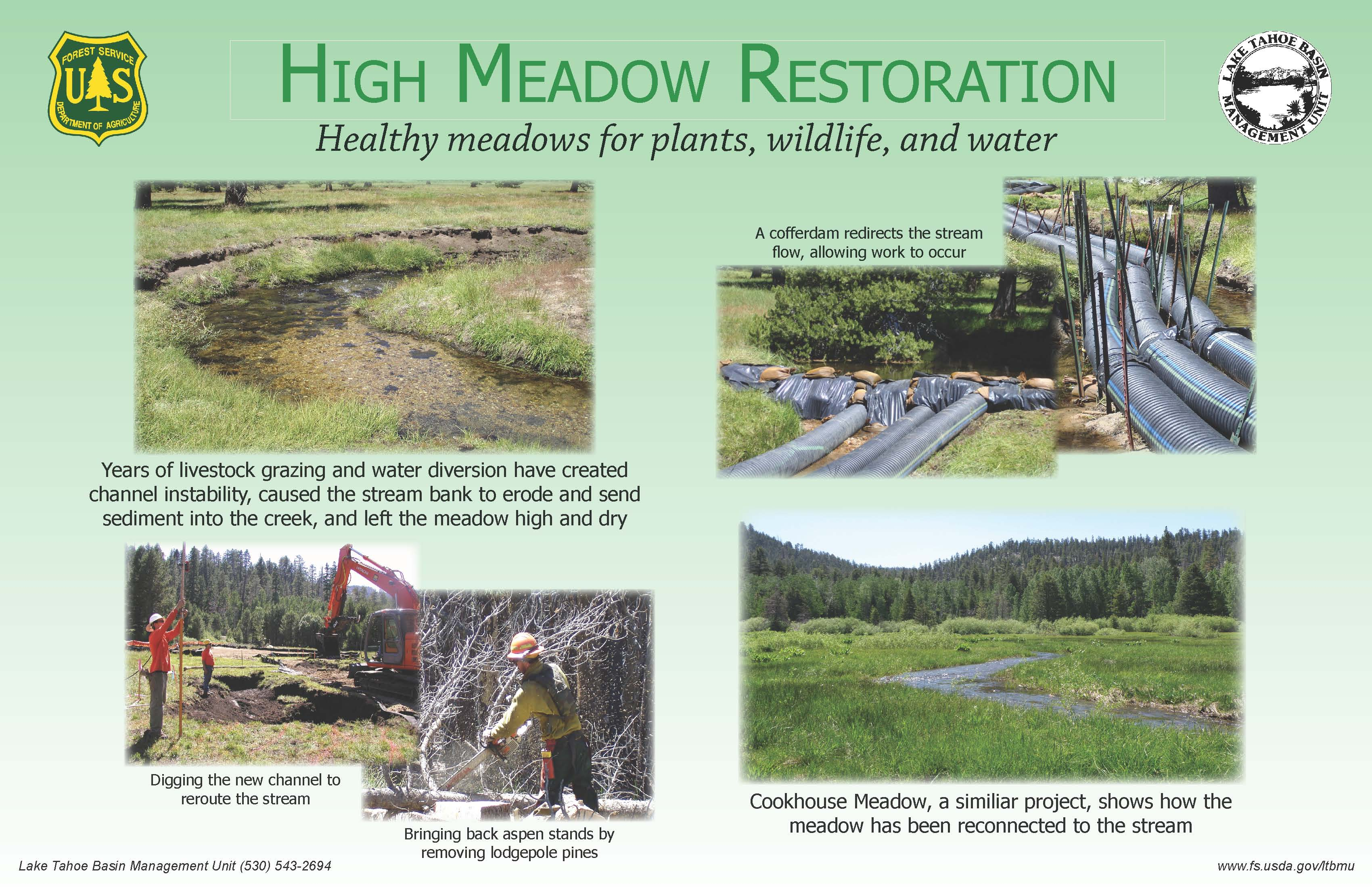 High Meadow Restoration sign
