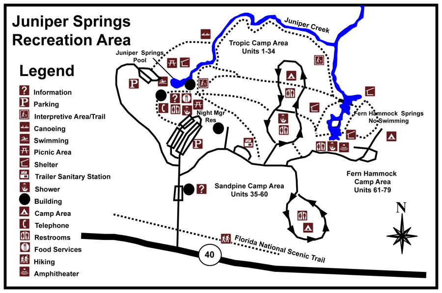 Juniper Springs Recreation Area map