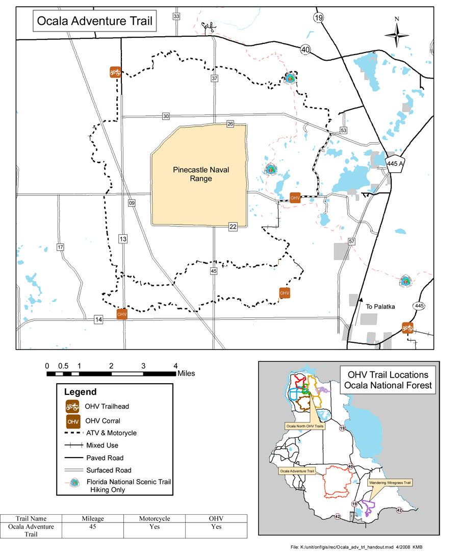Ocala National Forest - Maps & Publications on