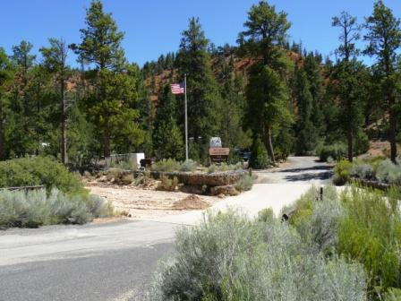 Red Canyon Campground Entrance
