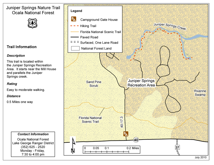 Ocala National Forest Maps Publications