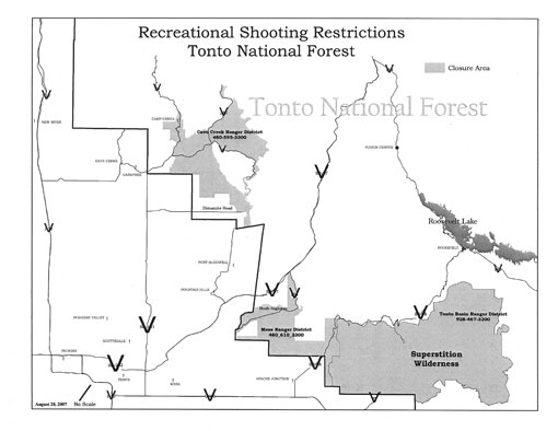 Tonto Recreational Shooting Map