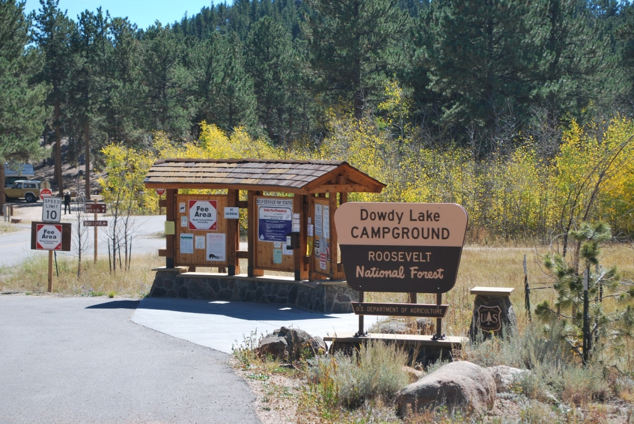 Entrance Signs for Dowdy Lake Campground
