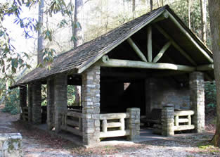 Chattooga Picnic Shelter built by the Civilian Conservation Corps in the 1930s