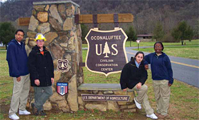 photo of group of Job Corps enrolles as Oconaluftee JC Center
