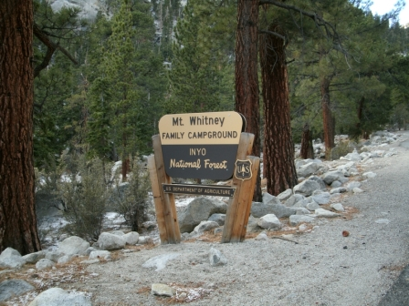 Entrance to Mt. Whitney Family Campground