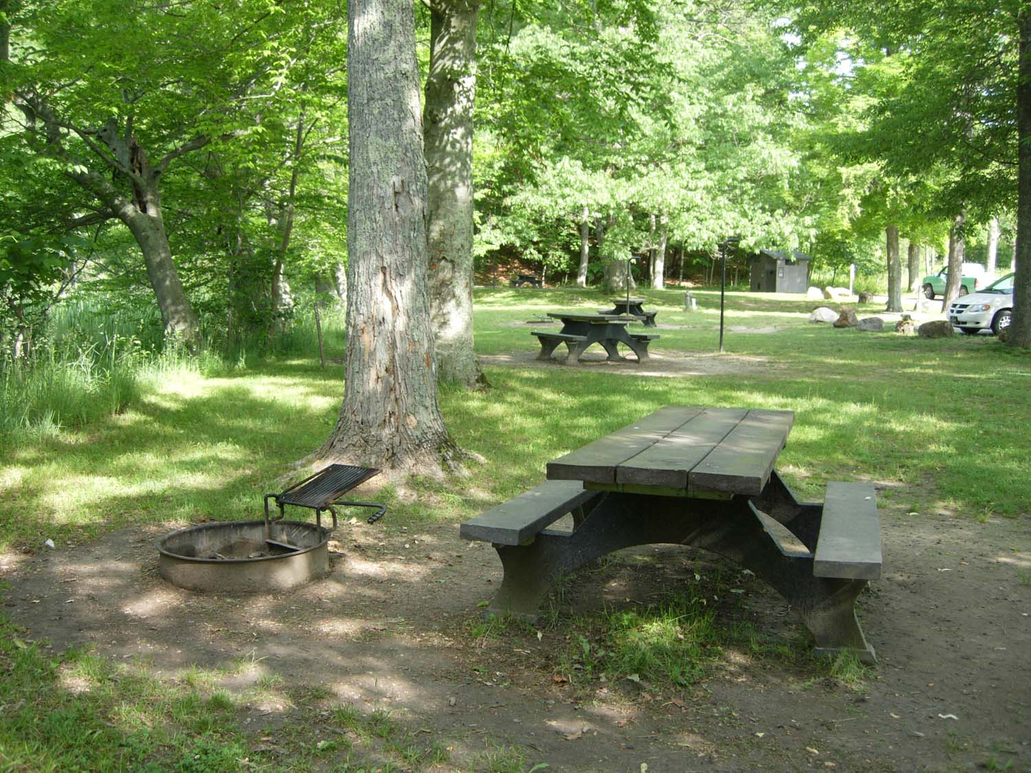 Manistee River - Red Bridge - picnic tables