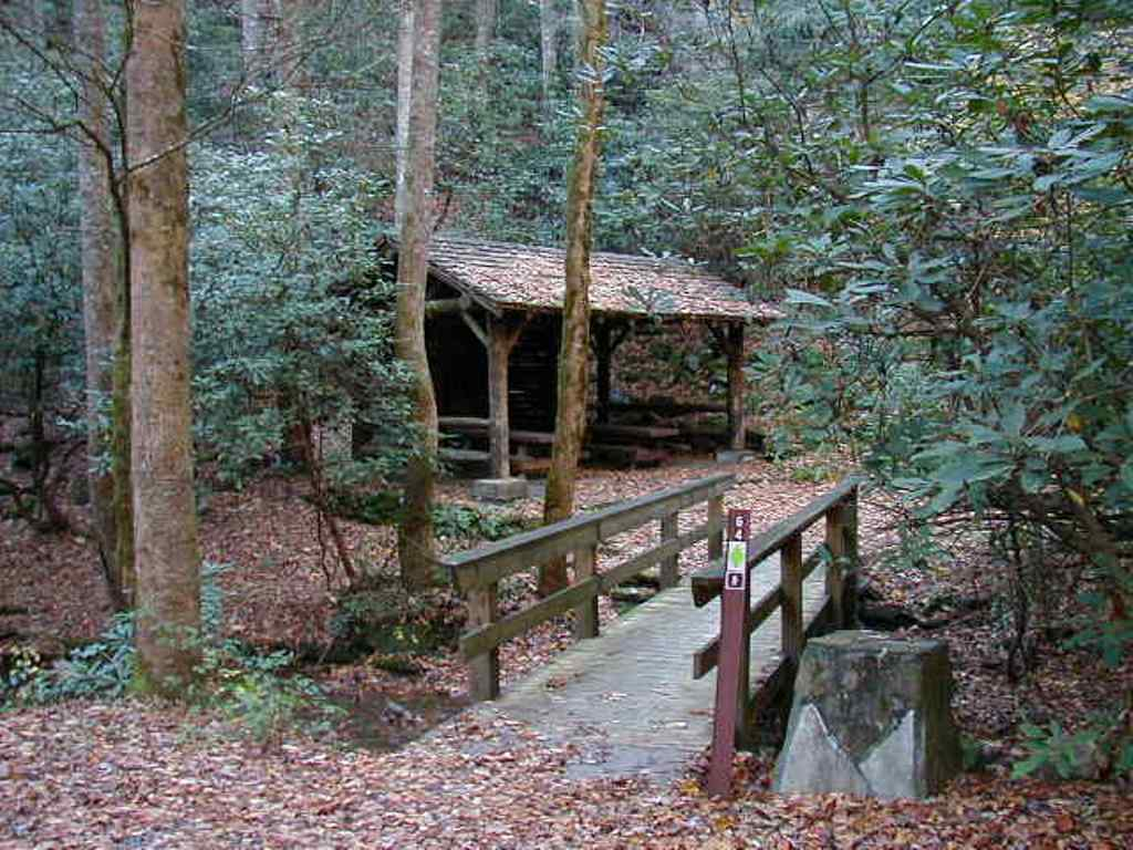 Group picnic area at Warwoman Dell