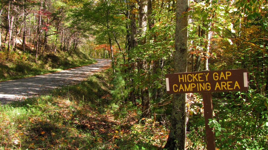 Mill Creek road leading to Hickey Gap Campground