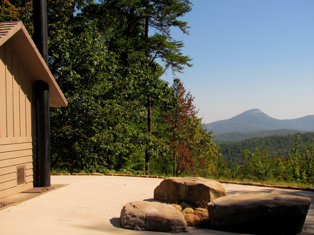 Panoramic view to Yonah mountain from Dukes Creek Recreational Area