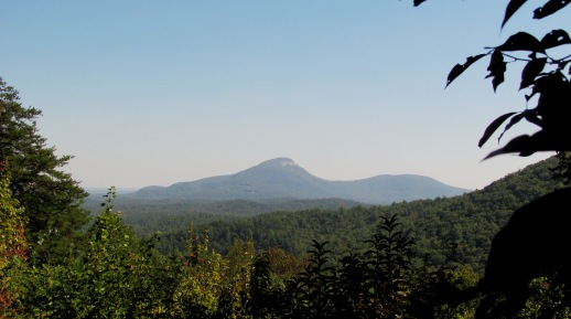 Photo of Mount Yonah as seen from the Dukes Creek Falls Recreation Area.