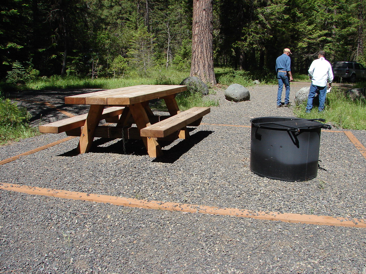 Accessibkle campsites at Blackhorse Campground