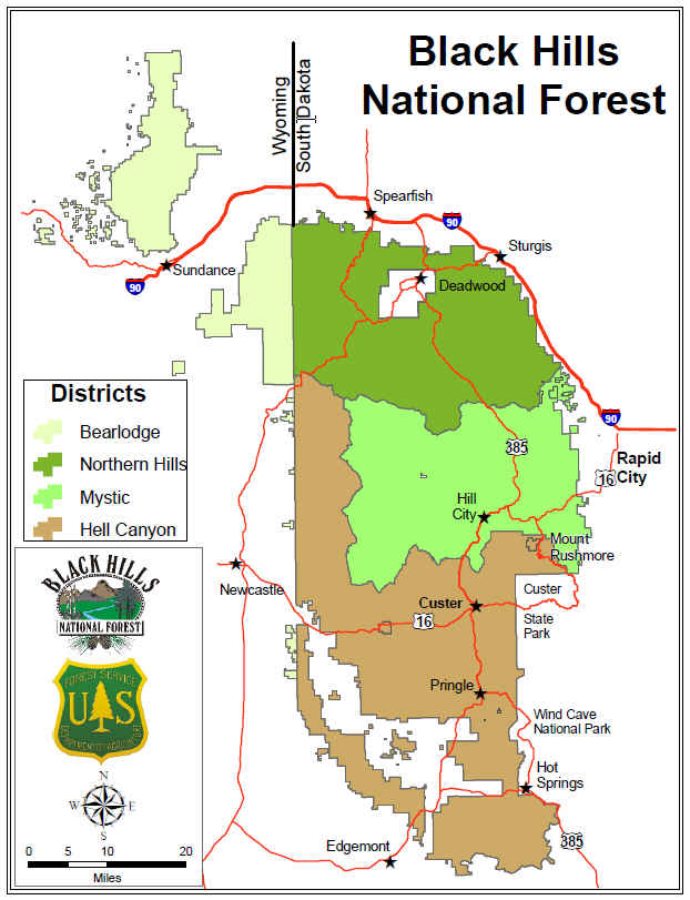 Map Of Usa Forests.Black Hills National Forest Home