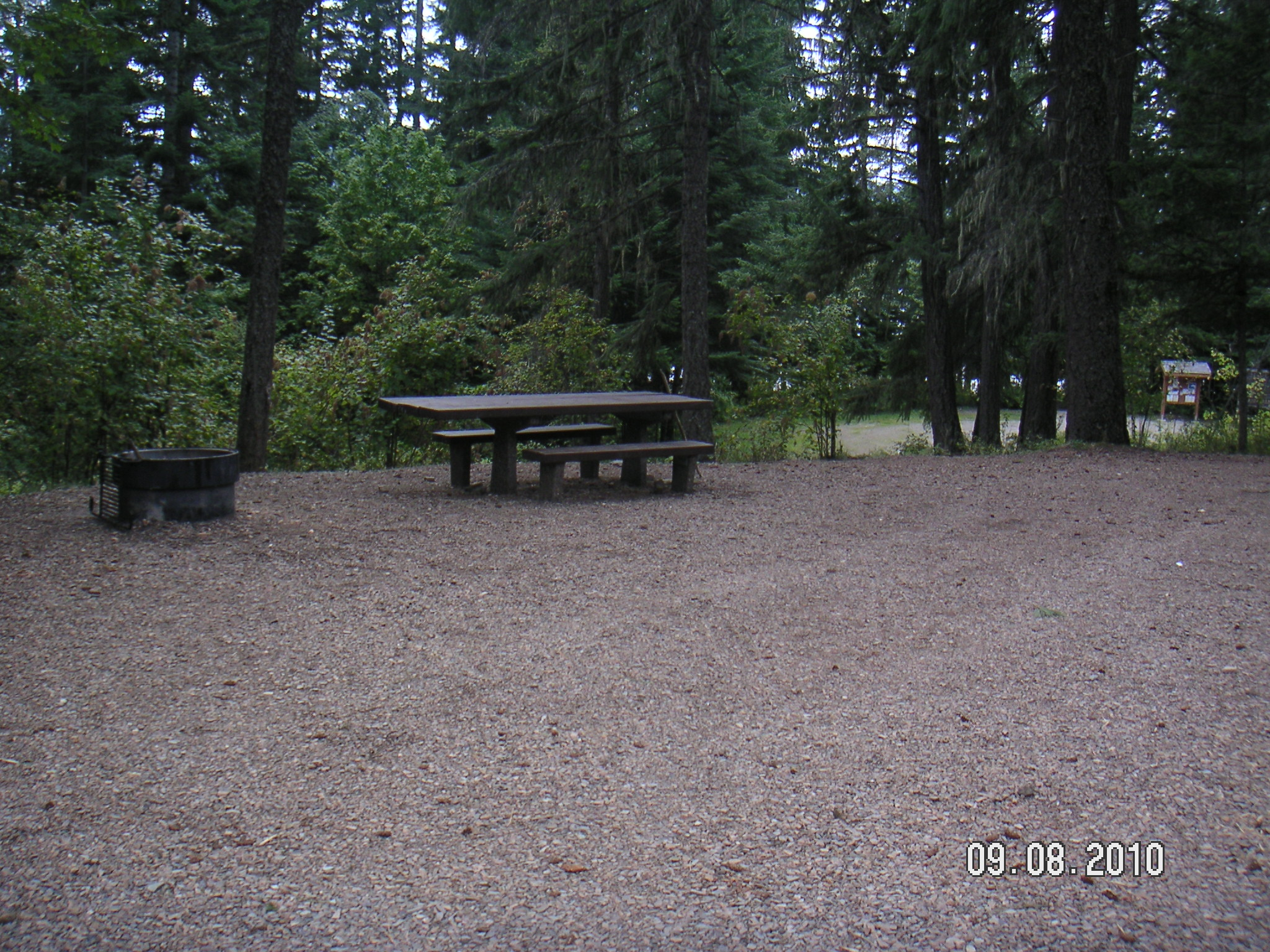 Photo of a campsite at Big Eddy