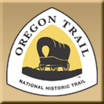 logo for the Oregon National Historic Trail wiht a wagon