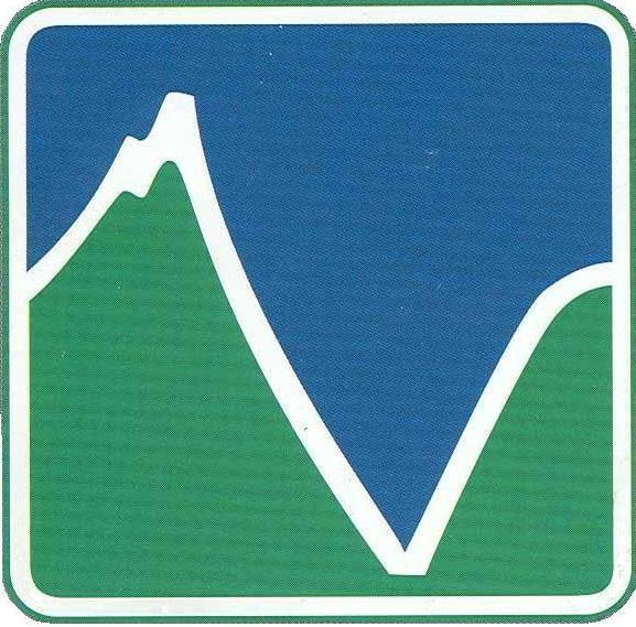 Hells Canyon wilderness logo with outline of a canyon and mountain