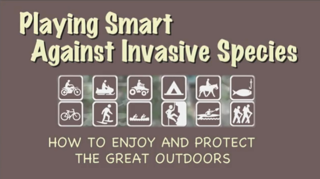Playing Smart Against Invasive Species Sign