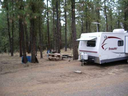 photo of camp set up in Joaquin Miller Campground