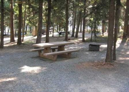 Typical campsites at Magone Lake Campground