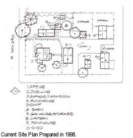 Current site plan prepared in 1998 for Paradise Valley Ranger Station