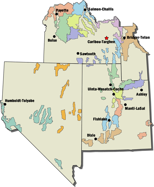 Regional map that shows the where there are open concession prospectus.