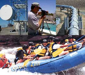 Image is a collage including a person filming, 