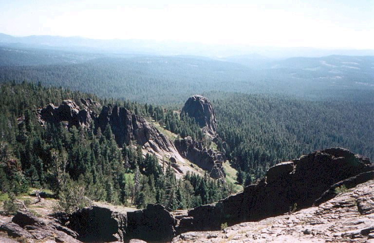 View from Boulder Mountain Trail in Gearhart Wilderness