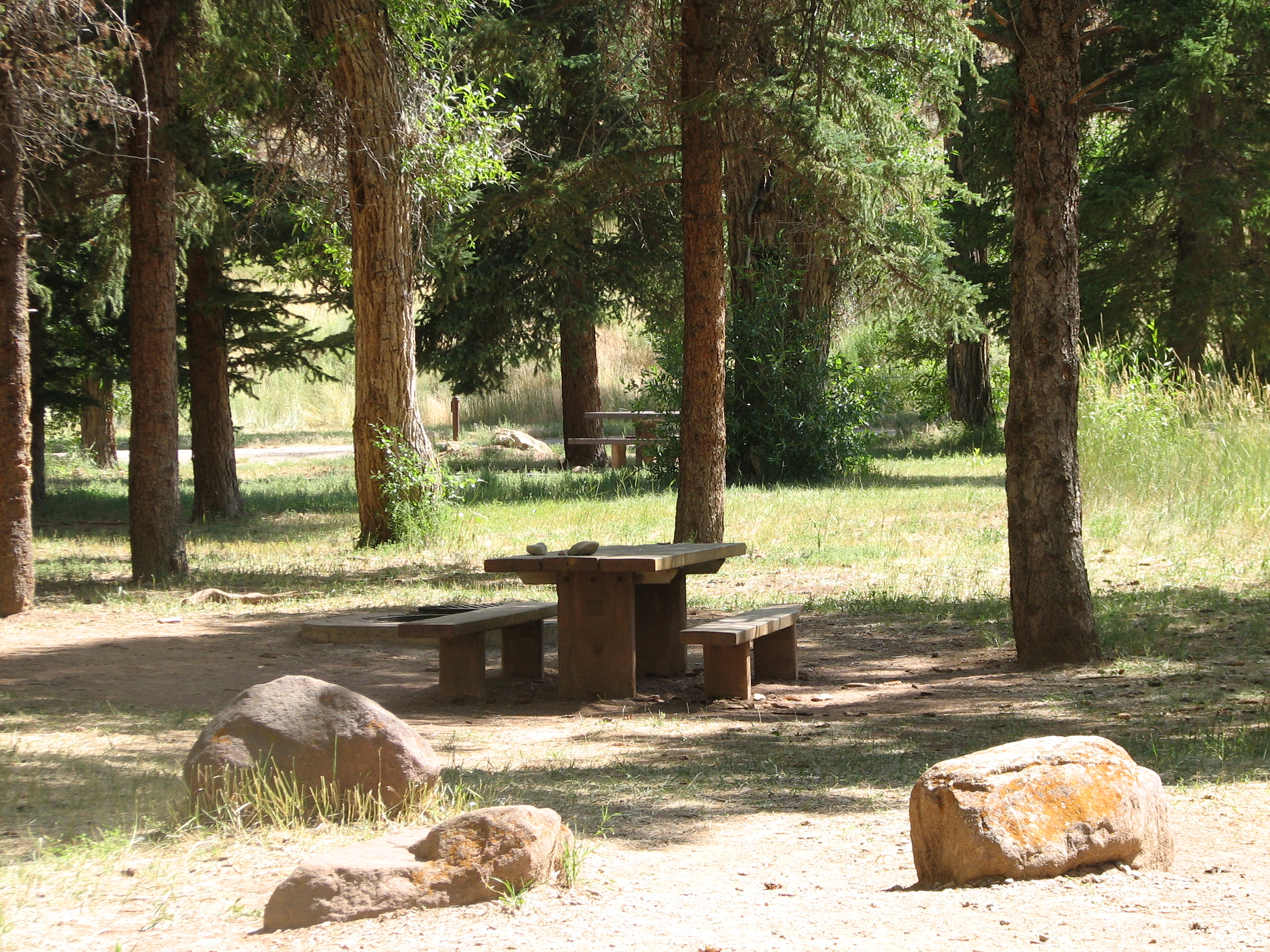 Photo of a site at Carmel Campground.
