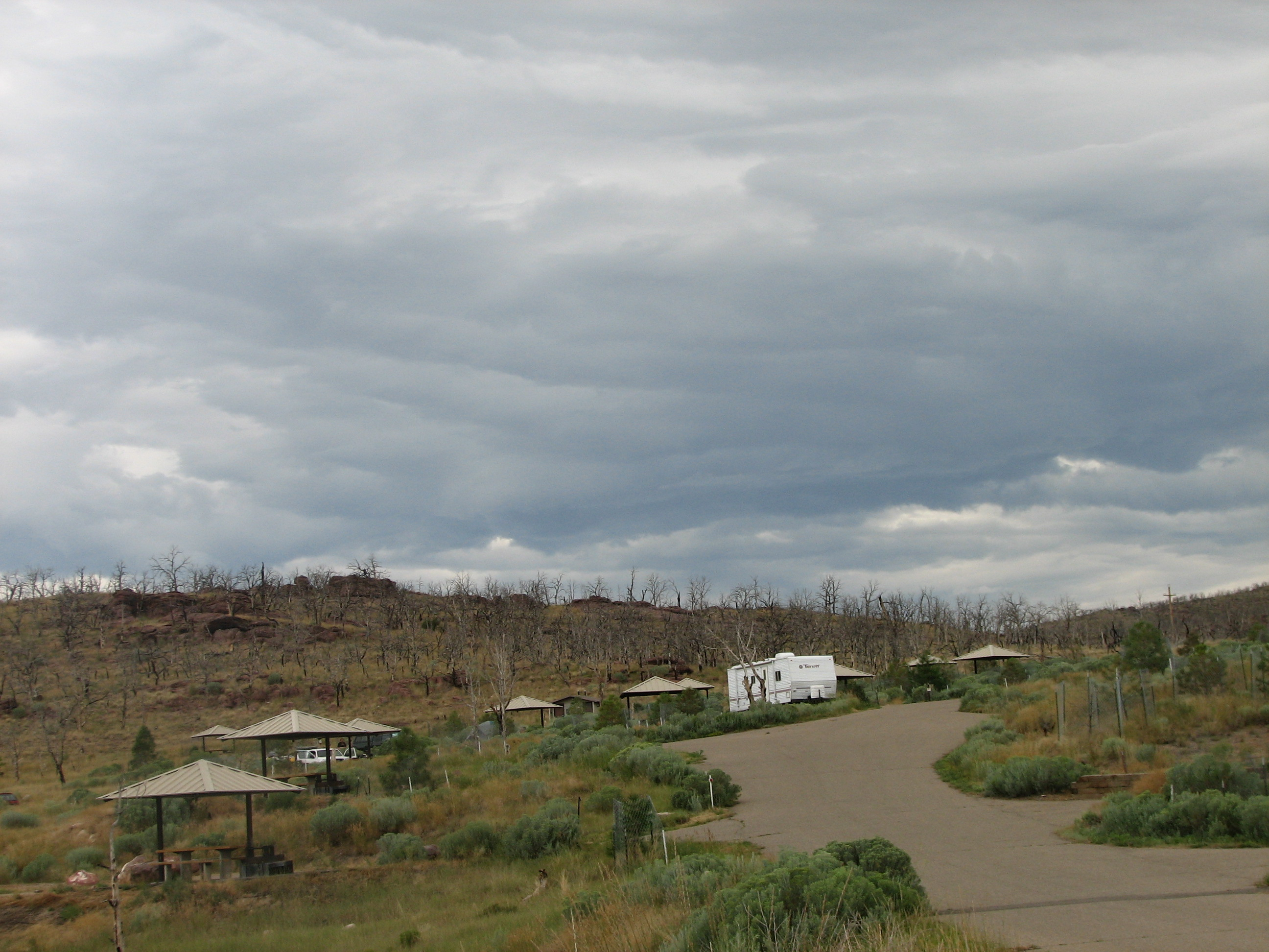 Photo of a site at the Dripping Springs Campground.